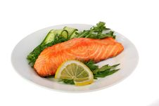 Free Grilled Salmon Royalty Free Stock Images - 29976819