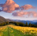 Free Morning Landscape In The Mountains Royalty Free Stock Photos - 29980688