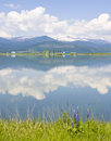 Free Pend Oreille River Reflection Of Clouds, Selkirk Mountains And Western Lupine Royalty Free Stock Photography - 29982237