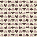 Free Grunge Seamless Pattern With Hearts Stock Photography - 29988522
