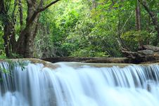 Free Deep Forest Waterfall In Kanchanaburi, Thailand Royalty Free Stock Image - 29981096