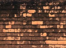 Old Tiles Roof Texture Royalty Free Stock Image