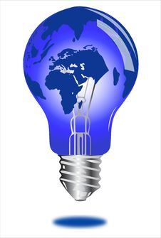 Free Globe Light Bulb Stock Images - 29982504