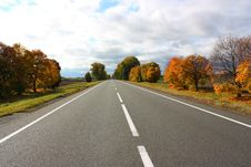 Free Autumn Road Royalty Free Stock Photography - 29986147