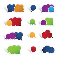 Free Colourful Speech Bubbles Isolated On White Backgro Stock Image - 29987531