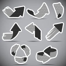 Free Set Of Grunge Arrows Royalty Free Stock Photos - 29988408