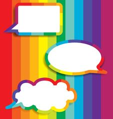 Free Colorful Background With Speech Bubble. Stock Image - 29989771