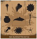 Free Abstract Silhouette Sea Animals Isolated Stock Images - 29998304
