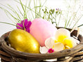 Free Easter Egg In The Basket Stock Images - 29998954