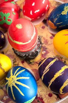 Easter Eggs And Easter Decoration Royalty Free Stock Photography