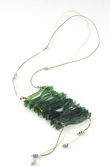 Free Ecojewelry Necklace From Recycled Plastic Bottles Royalty Free Stock Photos - 29994088
