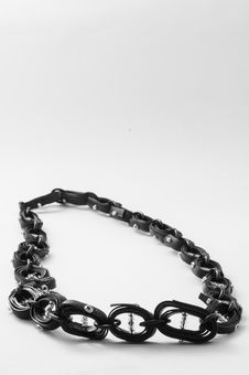 Free Ecojewelry Necklace From  Bicycle Inner Tube Stock Photo - 29994330