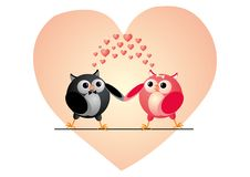 Free Owls Couple In Love Stock Images - 29997824