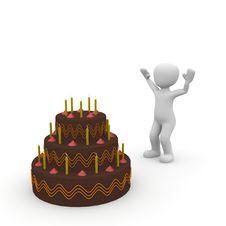 Free Birthday Cake Royalty Free Stock Photo - 29998455