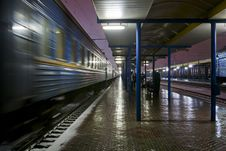 Free Passenger Train At The Station Stock Photos - 29998883
