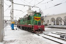 Free Locomotive In Simferopol, Crimea, Ukraine Royalty Free Stock Photo - 29998925