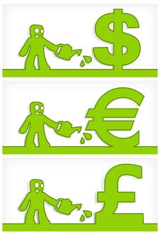 Human And Money Signs