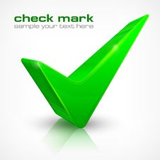 Free Check Mark On White Stock Image - 29999381