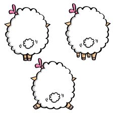 Free Backs Of Funny Sheeps Stock Image - 29999601