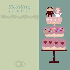 The Wedding Invitation Vector Card Royalty Free Stock Image