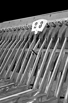 Accordion B&W Royalty Free Stock Photography