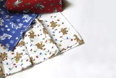 Free Christmas Fabrics Royalty Free Stock Photo - 35765
