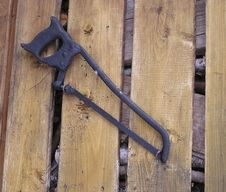 Free Aged Tools2 -saw Stock Image - 38251