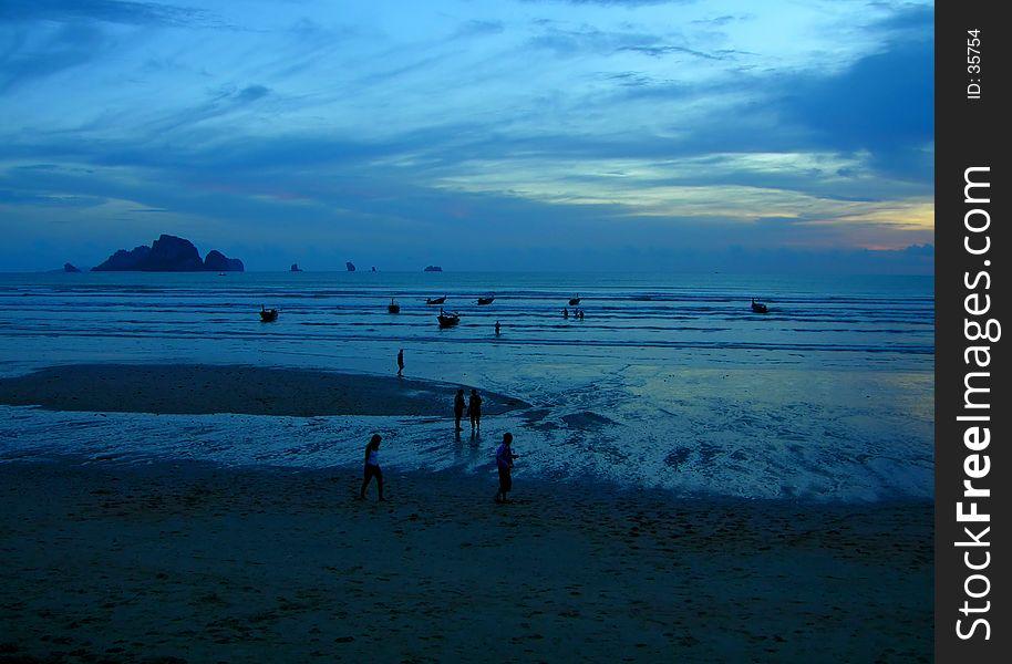 Blue mystic sunset