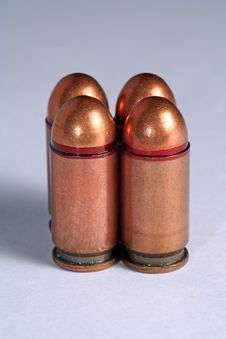 Russian Pistol 9mm Rounds Royalty Free Stock Photo