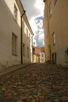 Free Old Street In Tallin Stock Photos - 301133