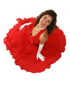 Free Lady In Red Royalty Free Stock Photo - 301655