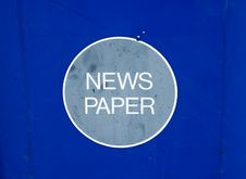 Free News Paper Recycling Bin Stock Photo - 301960