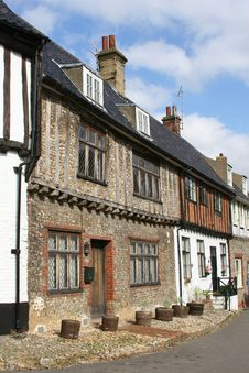 Free Row Of Old  Houses Royalty Free Stock Photography - 303947