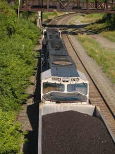 Free Above The Coal Train Royalty Free Stock Images - 304269