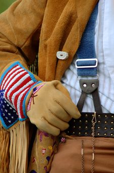 Buckskin Coat, Gloves And Suspenders Royalty Free Stock Photography
