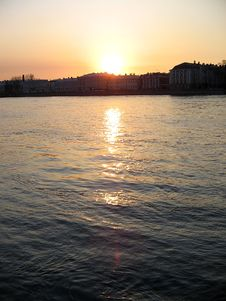 Free Sunset In St. Petersburg Royalty Free Stock Photography - 305617