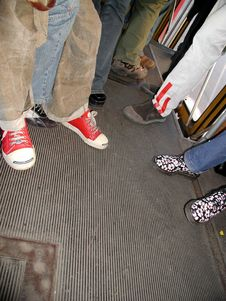 Free Shoes In A Bus Royalty Free Stock Photos - 305748