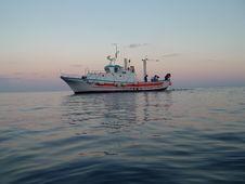 Boat Of Fishermen Stock Images