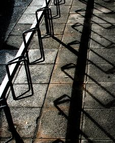 Free Shadowplay On Bike Stand Stock Photos - 307593