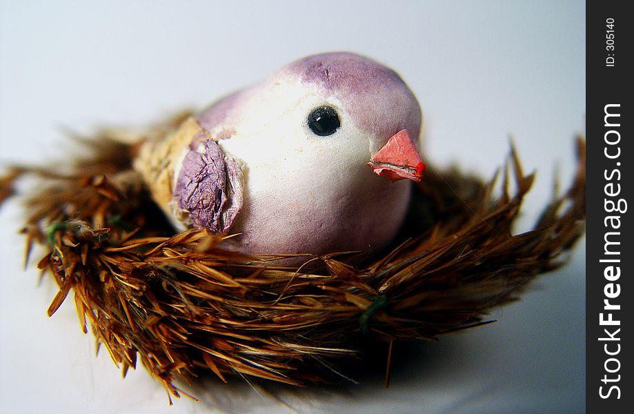Handcrafted bird