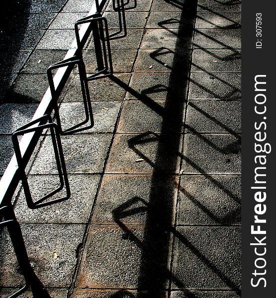 Shadowplay on bike stand