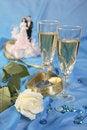 Free Wedding Cake Dolls, Rose Royalty Free Stock Image - 3006756