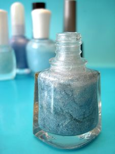 Free Nail Polish On Blue Stock Photography - 3000262