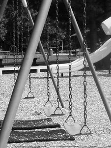 Free Swings B&W Royalty Free Stock Photo - 3000845
