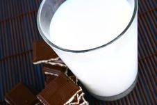 Free Milk And Chocolate Royalty Free Stock Photography - 3001307