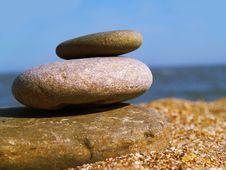 Free Warm Stone On The Beach Royalty Free Stock Photos - 3001498
