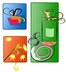 Celebration Gift Boxes Royalty Free Stock Images