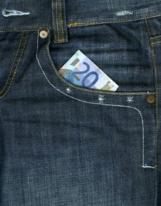 Money In Pocket Stock Image