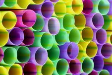 Free Colored Straws. Royalty Free Stock Photography - 3003767