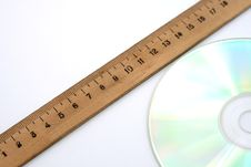 Free Ruler And Disc Stock Photos - 3004053